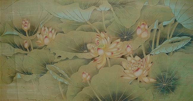 flower - Painting,  80x160 cm ©2012 by 凤岭 -            flower(花)