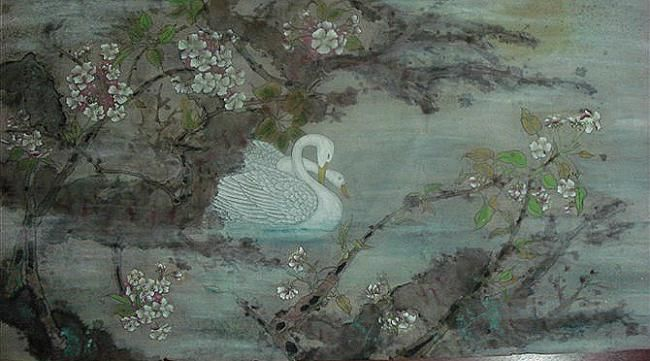 flower - Painting,  60x120 cm ©2012 by 凤岭 -                            Asia, flower(花)