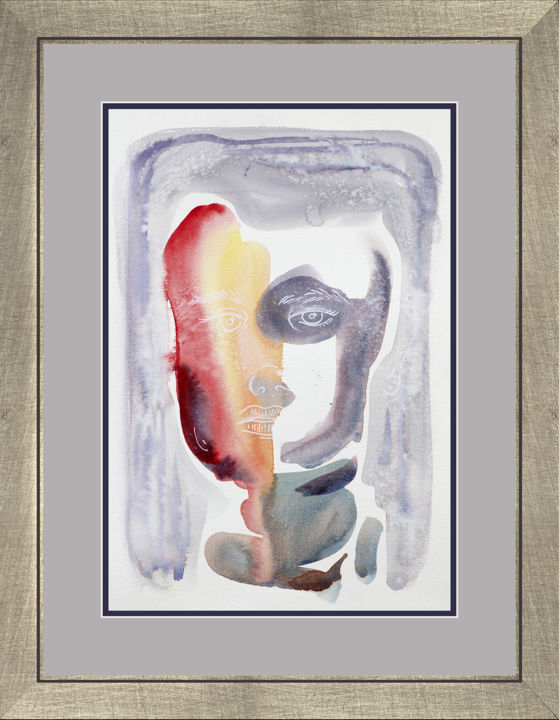 """Painting titled """"Soft Sally"""" by Yanqing Low, Original Art, Ink Mounted on Stretcher frame"""
