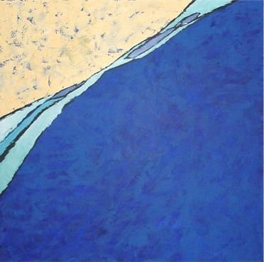 Shore - Painting,  47.2x47.2 in, ©2004 by Yaovi -