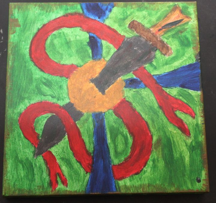 """Painting titled """"daggersword.jpg"""" by Jaque Chayan, Original Art, Acrylic"""