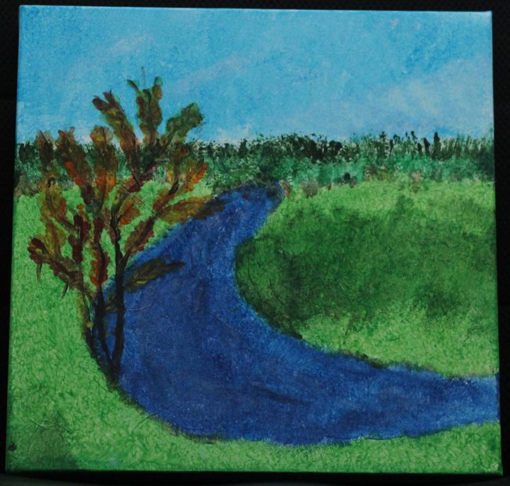 """Painting titled """"River Tree"""" by Jaque Chayan, Original Art, Acrylic"""