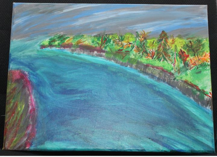 """Painting titled """"Ocean View"""" by Jaque Chayan, Original Art, Acrylic"""