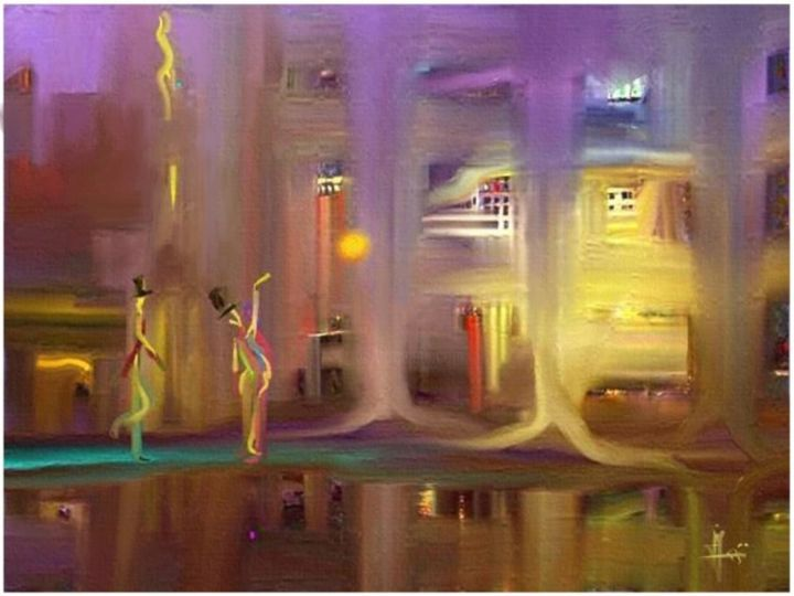 """Painting titled """"casual visitor"""" by Yensen, Original Art, Acrylic"""