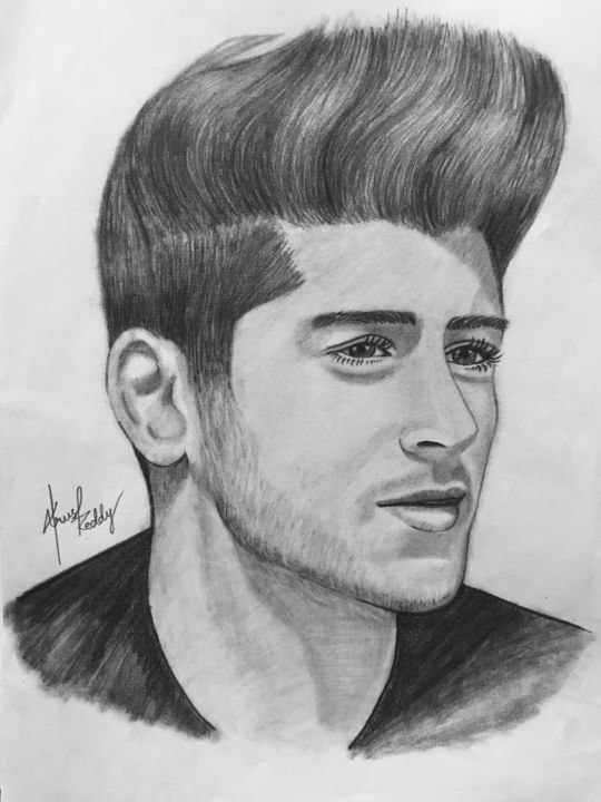 Sketch of zayn malik 2018 drawing 29 7x21x0 cm
