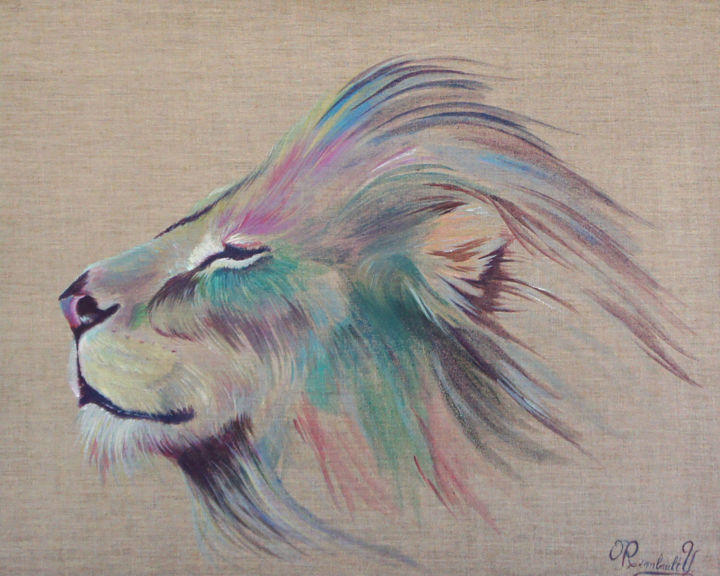 lion face painting on canvas best painting 2018. Black Bedroom Furniture Sets. Home Design Ideas