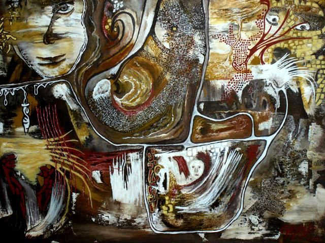 ARTISAN'ART D'APRES DEUX MAINS - Painting,  18.1x24 in, ©2006 by Yolande GASPARD -