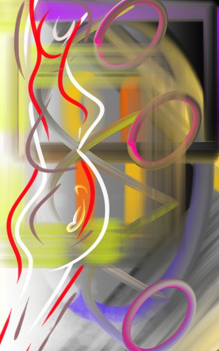 Digital Arts, digital painting, abstract, artwork by Lise Youlou