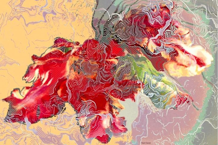 chasoffart-rococabs.jpg - Digital Arts,  16.8x21.7x0.2 in, ©2016 by Youri Chasov -                                                                                                                                                                                                                          Expressionism, expressionism-591, Flower, Youri Chasov