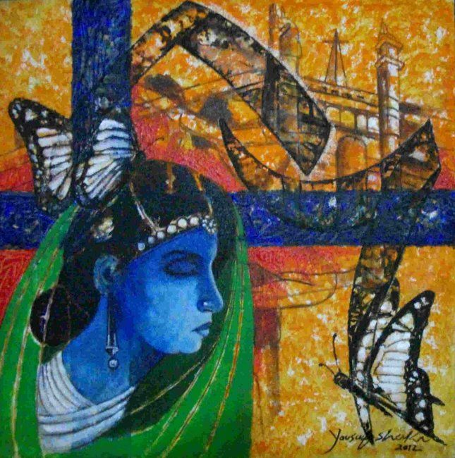 """Painting titled """"awaguon 5 series  b…"""" by Yousuf Sheikh, Original Art,"""