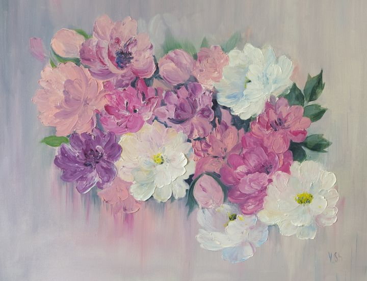 """Painting titled """"tenderness of color…"""" by Yulia Sheverova, Original Art, Oil"""