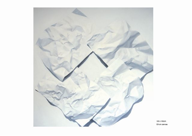 """Painting titled """"Paper Mortal 2"""" by Chen Yun Xiao, Original Art,"""
