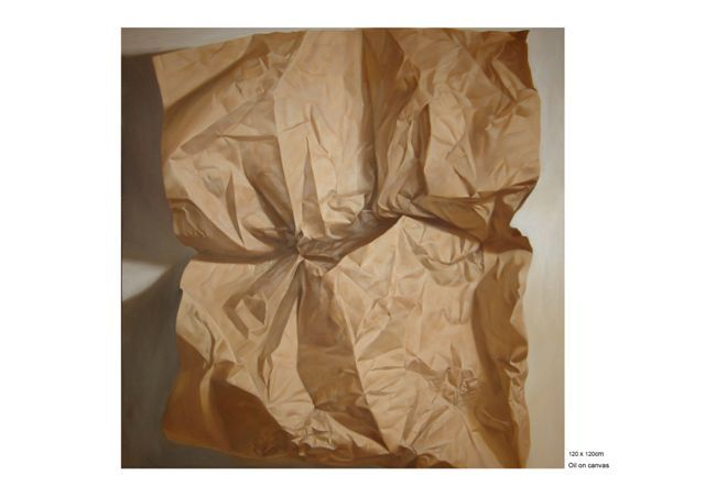 """Painting titled """"Paper Mortal 4"""" by Chen Yun Xiao, Original Art,"""