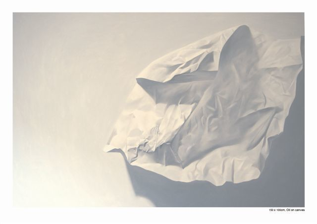"""Painting titled """"Paper Mortal 5"""" by Chen Yun Xiao, Original Art,"""