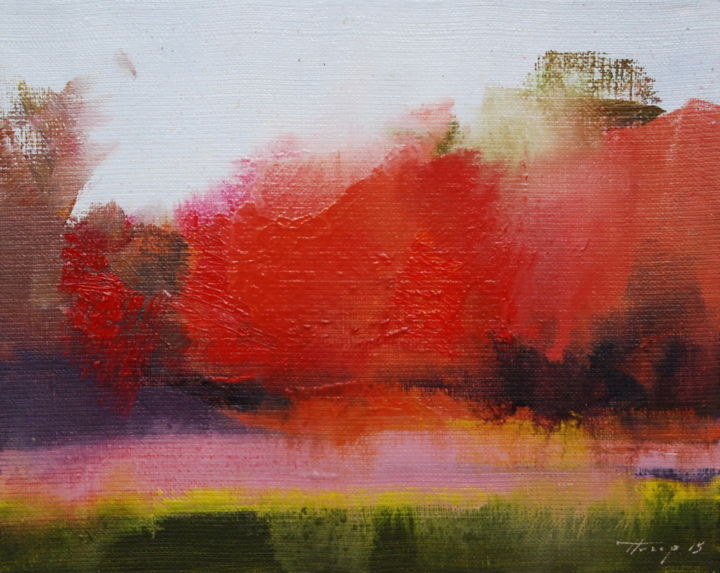 Autumn touch yuri pysar for Abstract nature painting