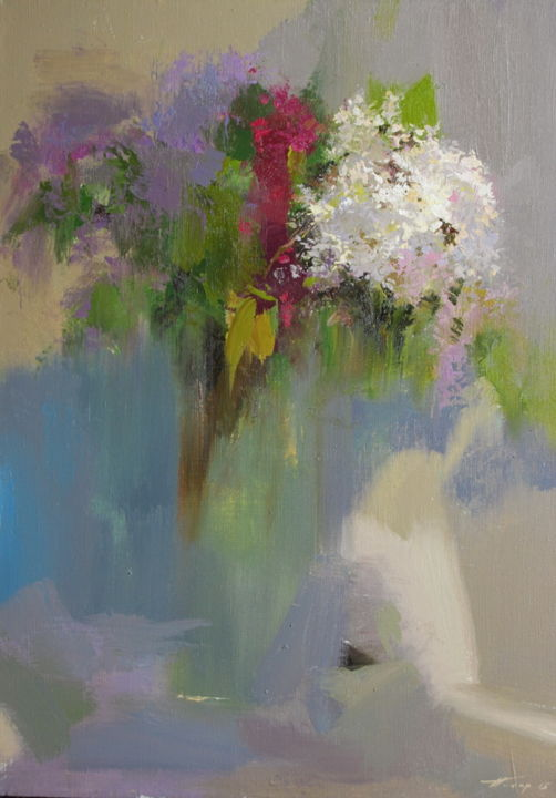 """Painting titled """"Floral painting """"Sy…"""" by Yuri Pysar, Original Art, Oil"""