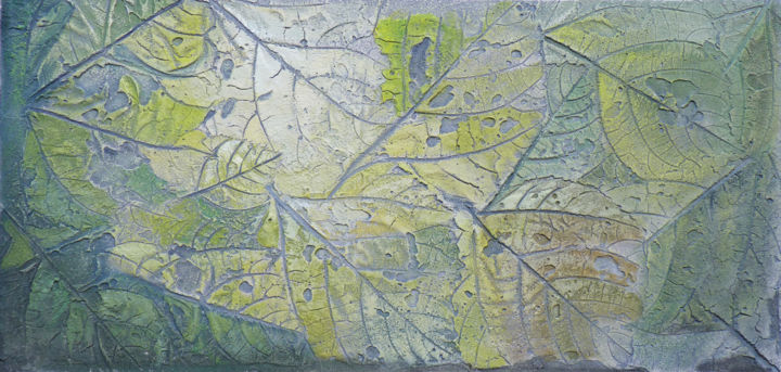 """Painting titled """"Rêve de Feuille"""" by Yves Robial, Original Art, Oil"""