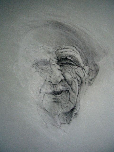 josé - Painting,  25.6x19.7 in, ©2010 by Yves Coladon -