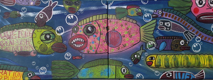 petit-poissons-double.jpg - ©  street, art, poisson, graff, tags, rue Online Artworks