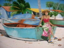 sanoa - Painting,  21.3x28.7 in, ©2007 by Yvon Vetel -