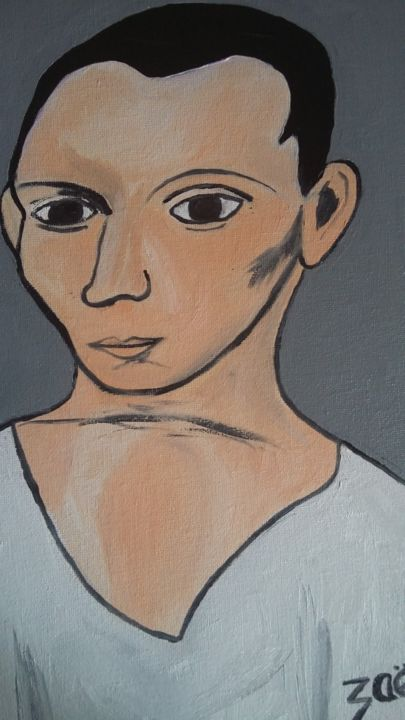 PICASSO 1906 - Painting,  35x24x2 cm ©2008 by Zaël -                                                            Figurative Art, Canvas, People, PICASSO