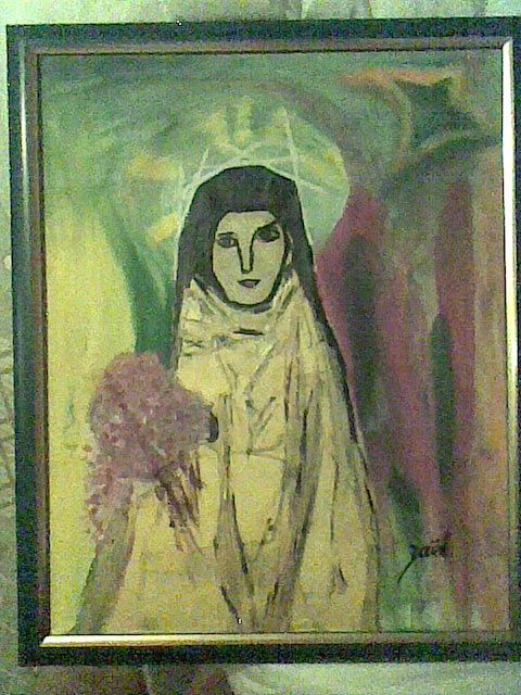SAINTE THERESE DE LISIEUX - Painting,  19.7x15.8 in, ©2009 by Zaël -