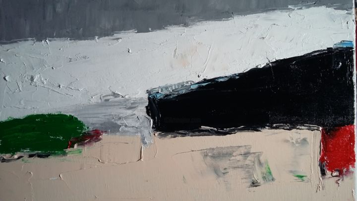 Painting, oil, abstract, artwork by Zaël