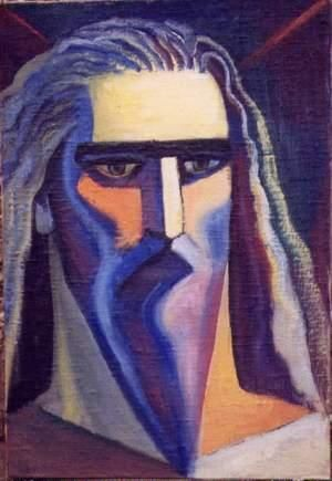 Moses - Painting,  29.1x19.7 in, ©2004 by Vladimir Zagitov -