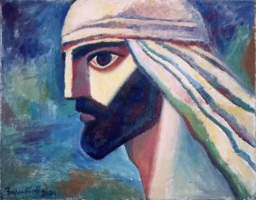 Mohammad - Painting,  31.5x39.4 in, ©2004 by Vladimir Zagitov -