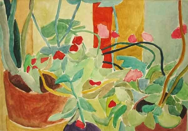 Plants and flowers - Painting,  16.5x23.6 in, ©1999 by Vladimir Zagitov -
