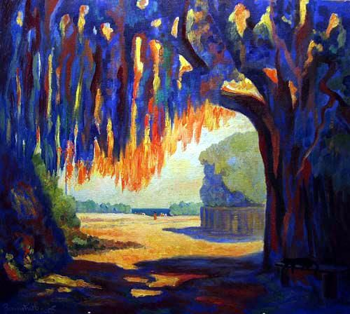 In The Shadow Of Big Tree - © 2005 landscape Online Artworks