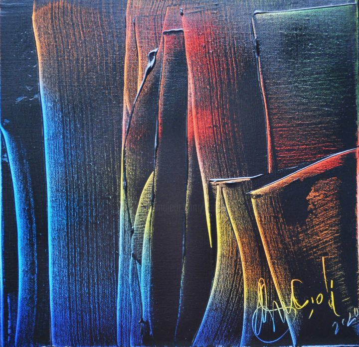 Sans titre - Painting,  11.8x11.8x0.8 in, ©2020 by Antonio Zamariola -                                                                                                                                                                          Abstract, abstract-570, Abstract Art