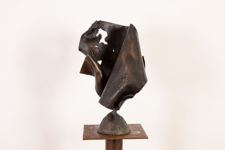Elément 2 - Sculpture,  4.7x9.5 in, ©2015 by Antonio Zamariola -                                                                                                                                                                                                                          Abstract, abstract-570, Bronze, Abstract Art