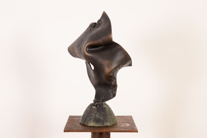 Fascination - Sculpture,  6.7x10.6 in, ©2015 by Antonio Zamariola -                                                                                                                                                                                                                          Abstract, abstract-570, Bronze, Abstract Art