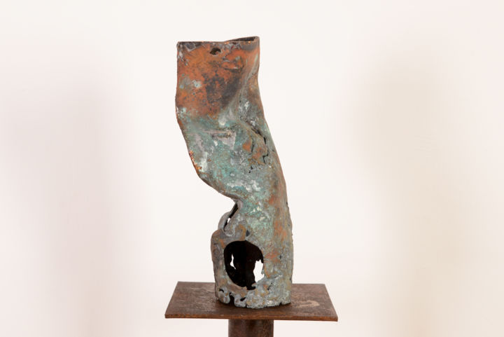 Passage - Sculpture,  3.5x6.7 in, ©2015 by Antonio Zamariola -                                                                                                                                                                                                                          Abstract, abstract-570, Bronze, Abstract Art
