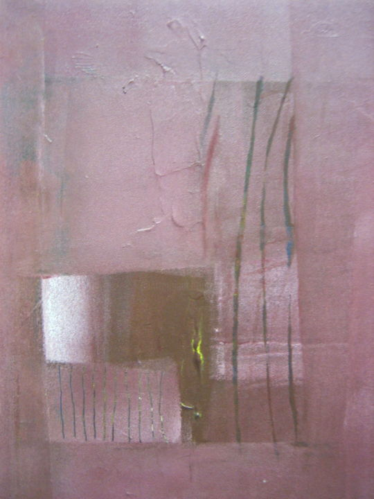 Fenêtre ouverte - Painting,  40x30 cm ©2005 by Antonio Zamariola -                                                        Abstract Art, Canvas, Abstract Art