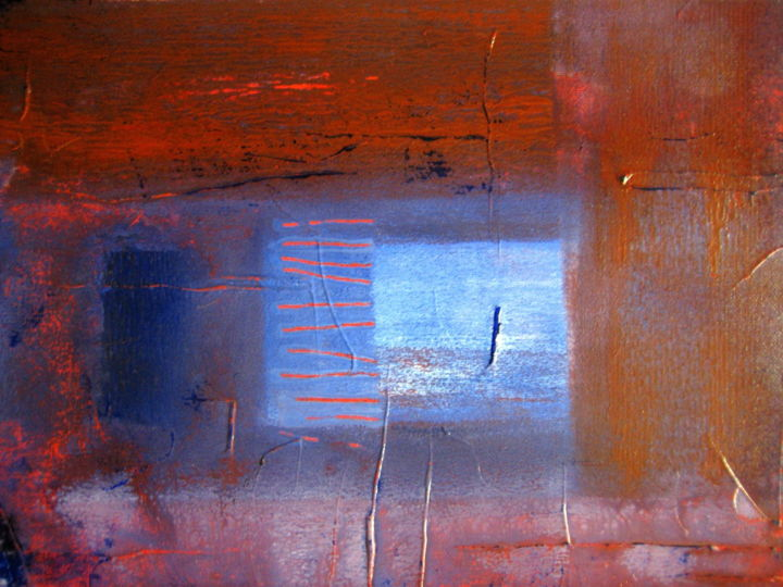 Vue sur l'Atlantique - Painting,  30x40 cm ©2005 by Antonio Zamariola -                                                        Abstract Art, Canvas, Abstract Art