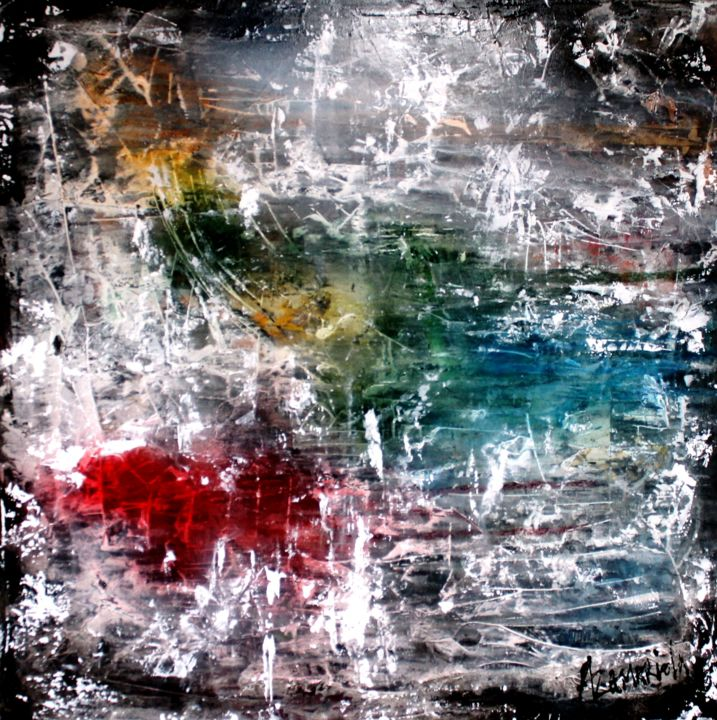 img-1516.jpg - Painting,  80x80x2 cm ©2016 by Antonio Zamariola -                                                        Abstract Art, Canvas, Abstract Art