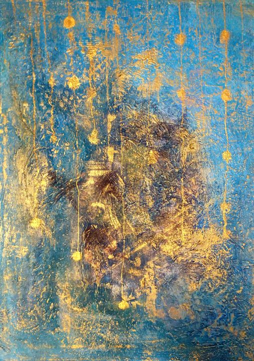 Artmix 59 - Painting,  60x40x2 cm ©2019 by Svitlana Zenkov -                                                    Abstract Art, Abstract Art, Outer Space