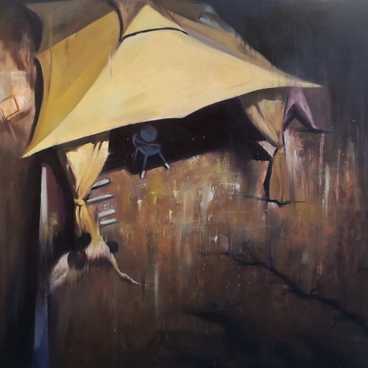 """Painting titled """"Cadere nell'angolo…"""" by Weixuan Zhang, Original Art, Oil"""