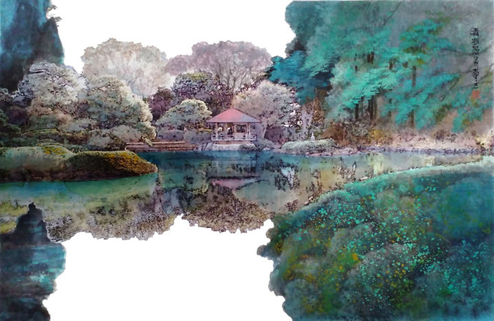 """Painting titled """"晴方好"""" by 哲剛 顧, Original Art, Pigments"""