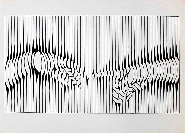 """Drawing titled """"the Creation"""" by Zieh Mazinani, Original Art, Ballpoint pen"""