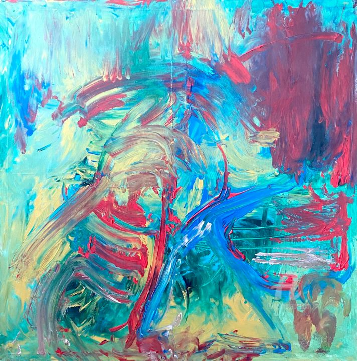 """Painting titled """"Flow Rate"""" by Zip Studio, Original Art, Acrylic"""