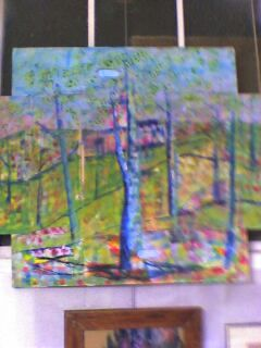 le tryptique des arbres - Painting, ©2006 by Ziya Aydin -