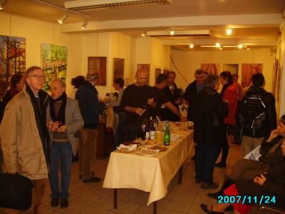 Exposition à l'institut Kurde : le vernissage1 - Painting ©2007 by Ziya Aydin -