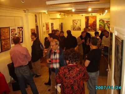 le vernissage 2 - Painting, ©2007 by Ziya Aydin -