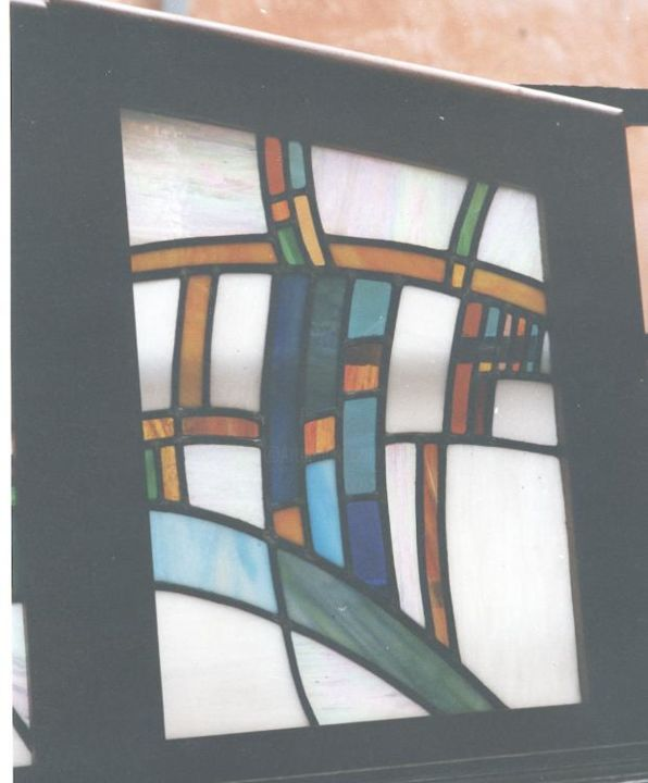 vitrail moderne verre opaque - Painting ©2006 by Ziya Aydin -