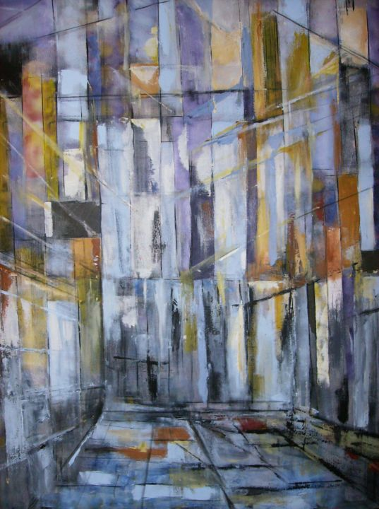 espece-d-espace - Painting,  36.2x28.7 in, ©2013 by Ziya Aydin -