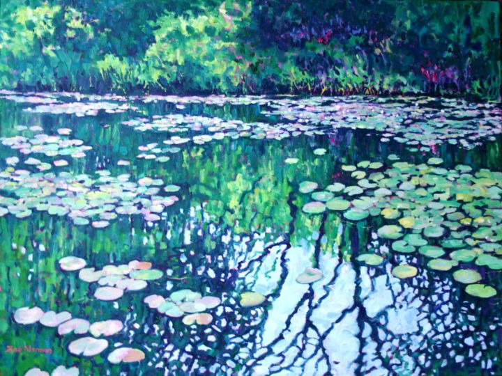 """Painting titled """"Giverny in Summer"""" by Zoe Norman, Original Art, Oil"""