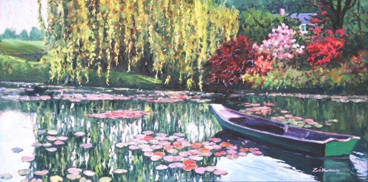 """Painting titled """"Remembering Claude…"""" by Zoe Norman, Original Art, Oil"""